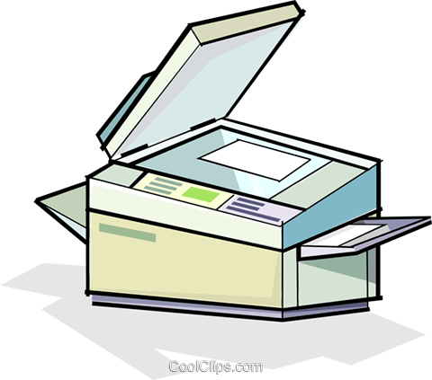 photocopier Royalty Free Vector Clip Art illustration.