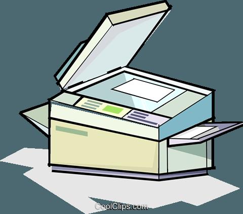 photocopier Royalty Free Vector Clip Art illustration.