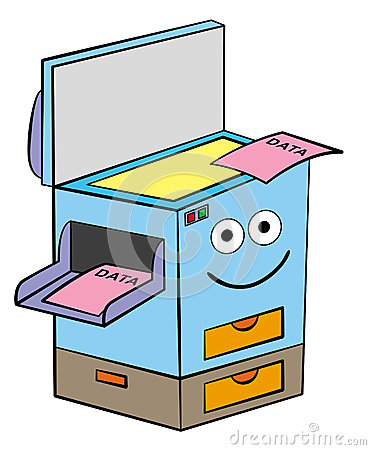 Cartoon Picture Of Xerox Machine.