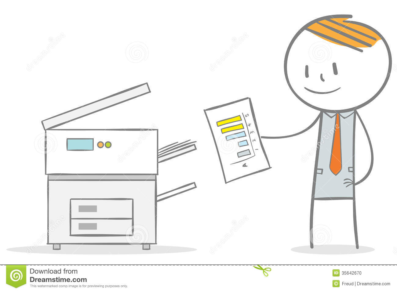 Photocopier Stock Illustrations.