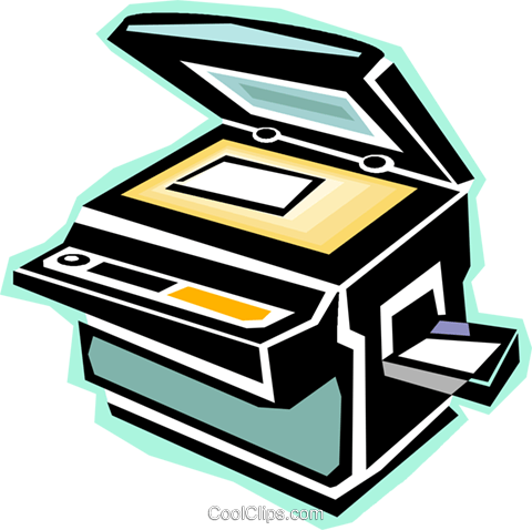 photocopy machine Royalty Free Vector Clip Art illustration.