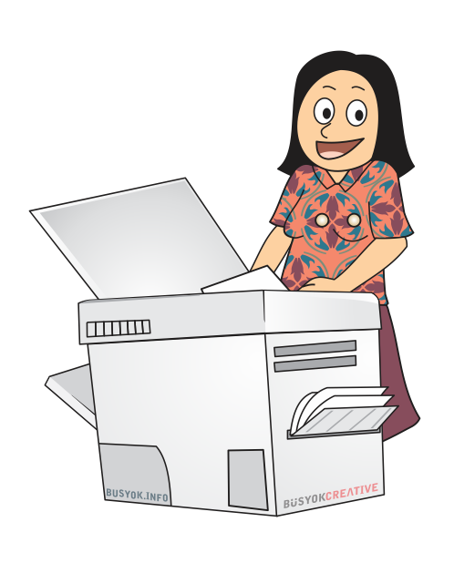 Funny Copy Machine Clipart.