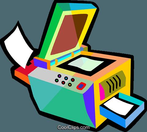 photocopy machine Royalty Free Vector Clip Art illustration.
