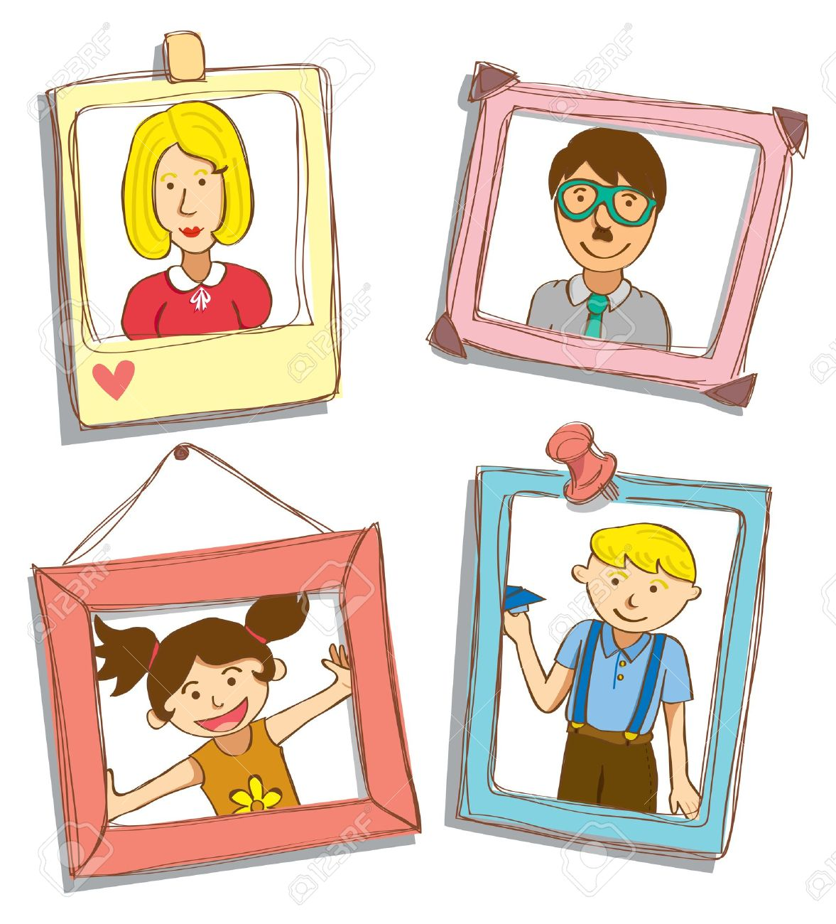 Family photograph clipart.