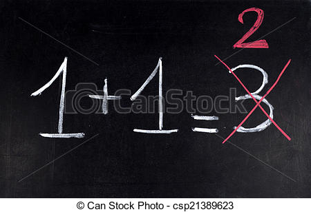 Stock Photo of Math error.