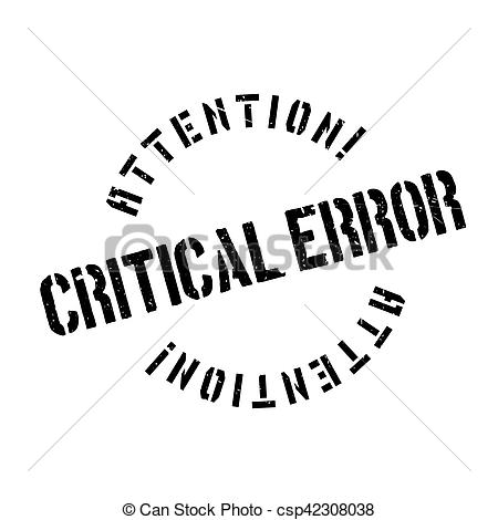 Stock Photos of Critical error stamp.