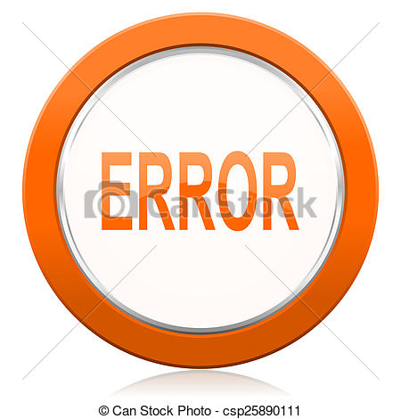 Stock Photography of error orange icon.
