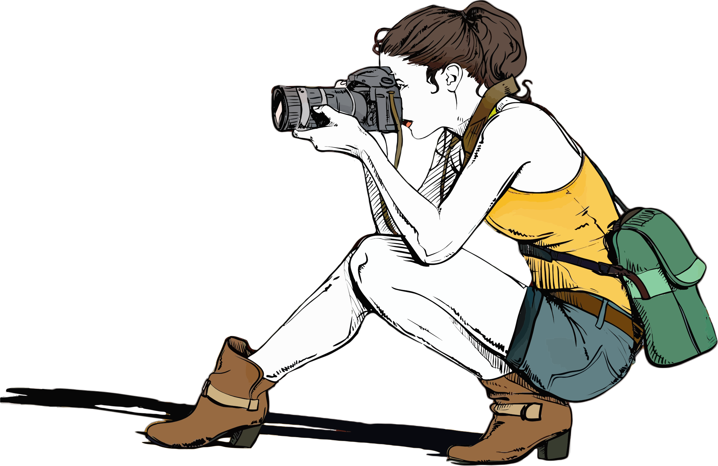 1402 Photographer free clipart.