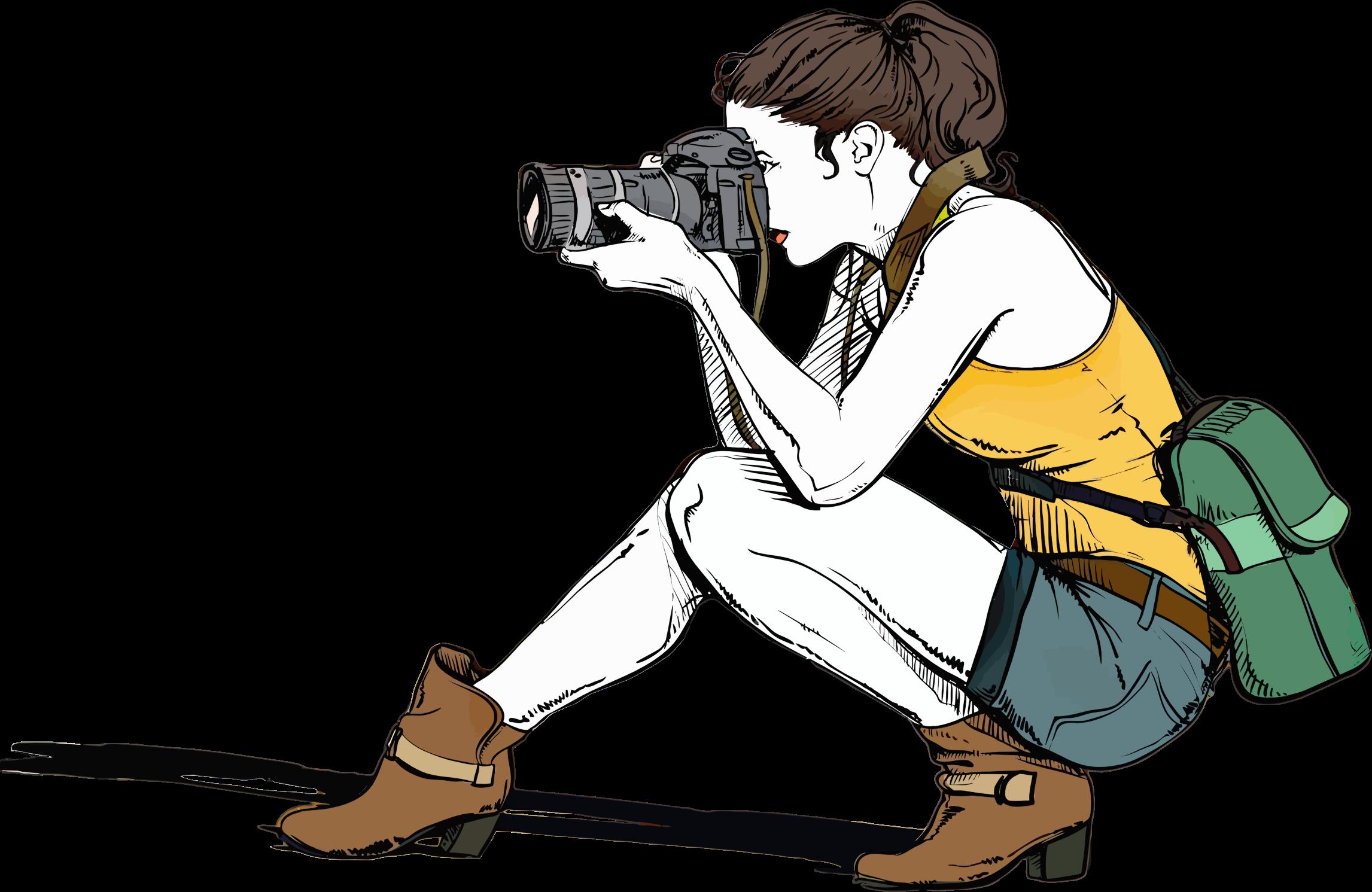 Female Photographer Clipart.