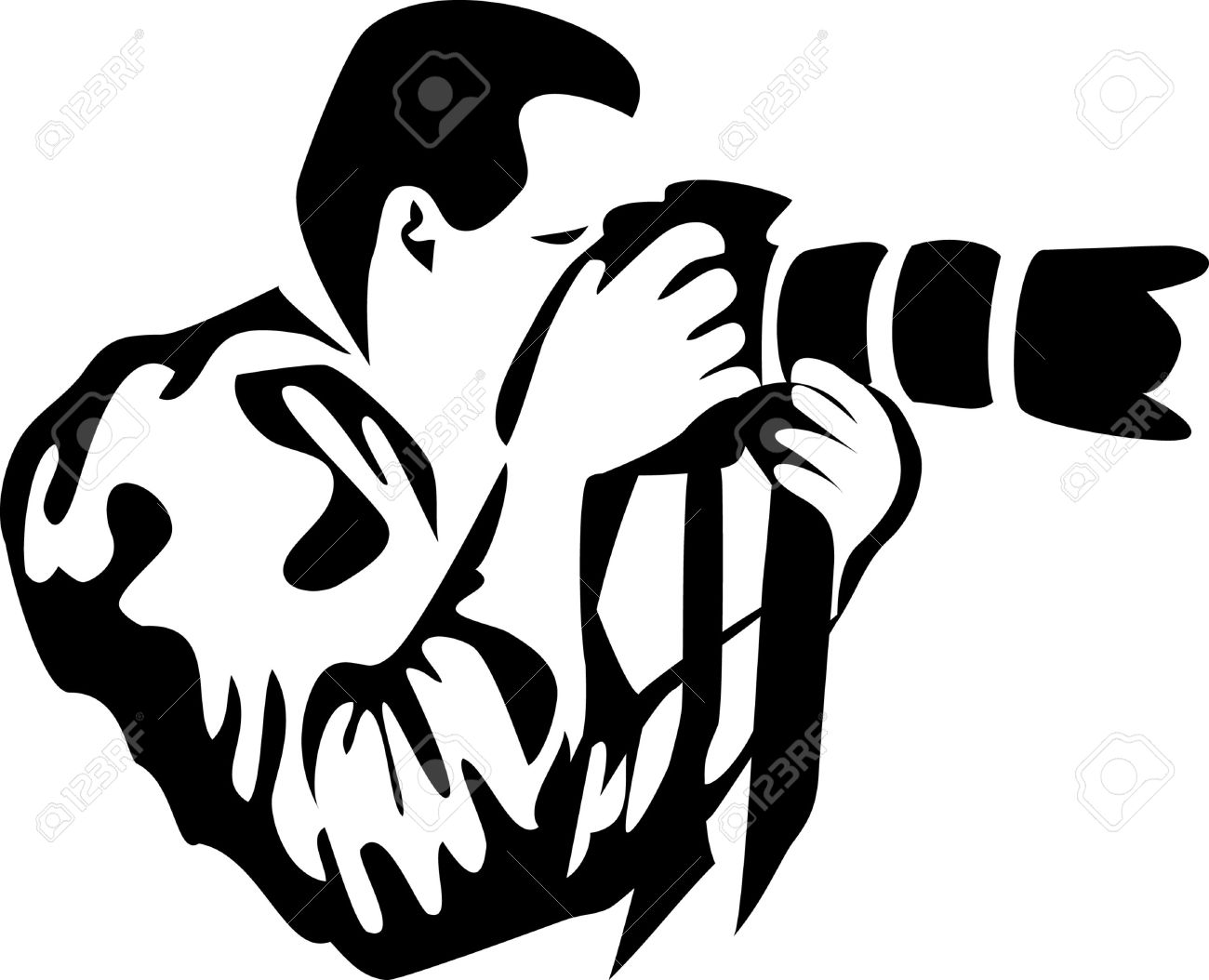 Professional photographer clipart.