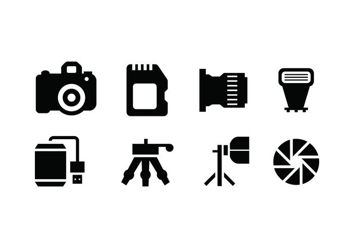 Photography tools vector icon.
