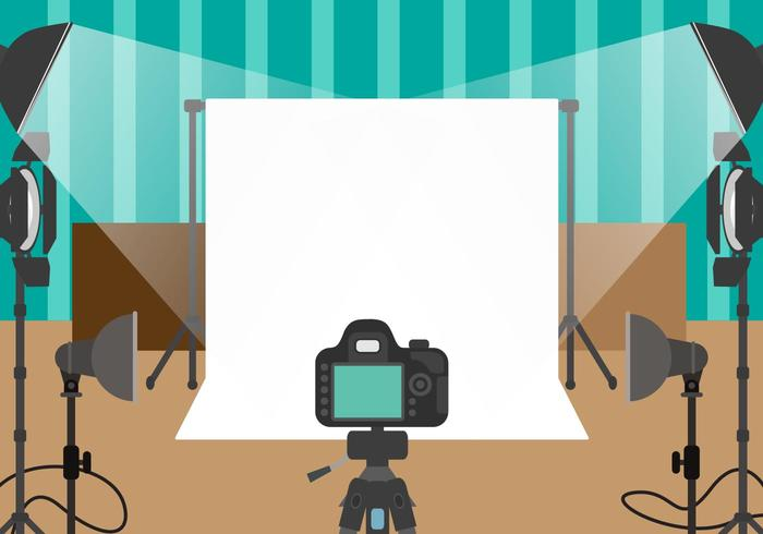 Photographer Studio Vector.