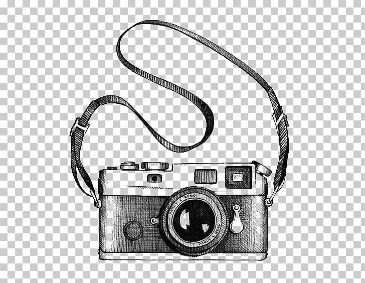 Drawing Camera Photography , camera, black and gray camera.