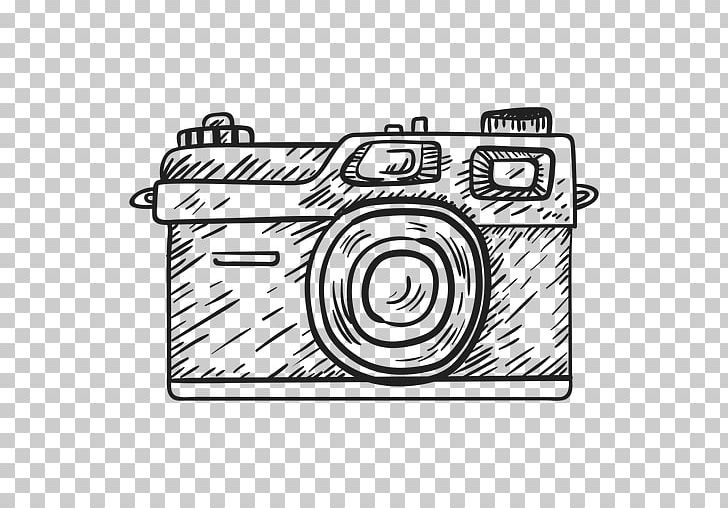 Camera Drawing Photography PNG, Clipart, Black And White.