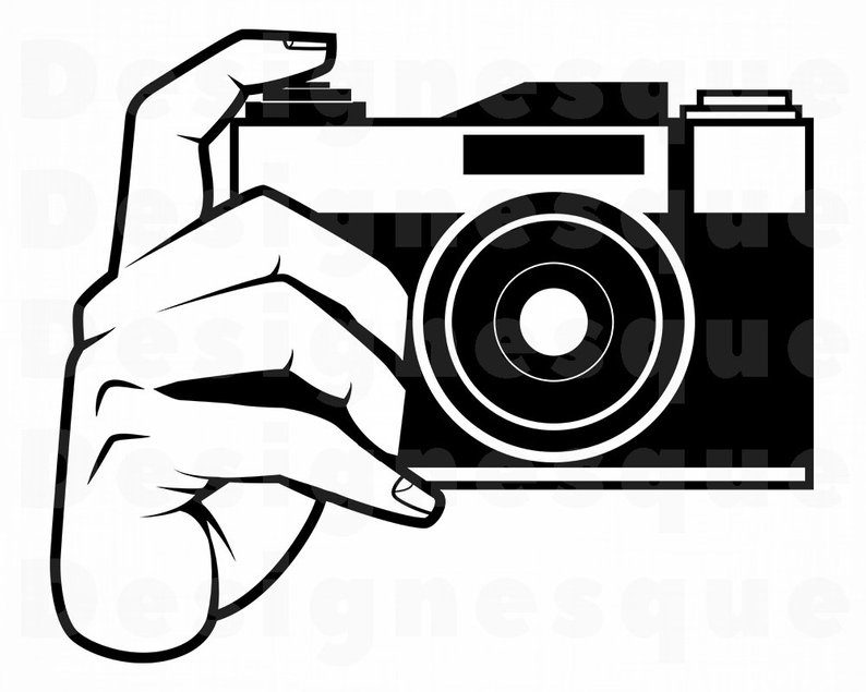 Photographer With Camera Drawing Png.