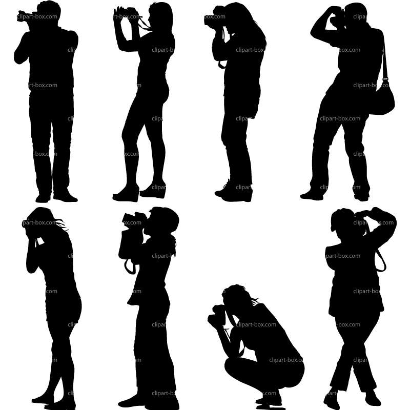 CLIPART PHOTOGRAPHERS SET.