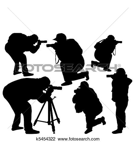 Clipart of professional photographers k5454322.