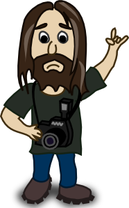 Cartoon photographer clip art.