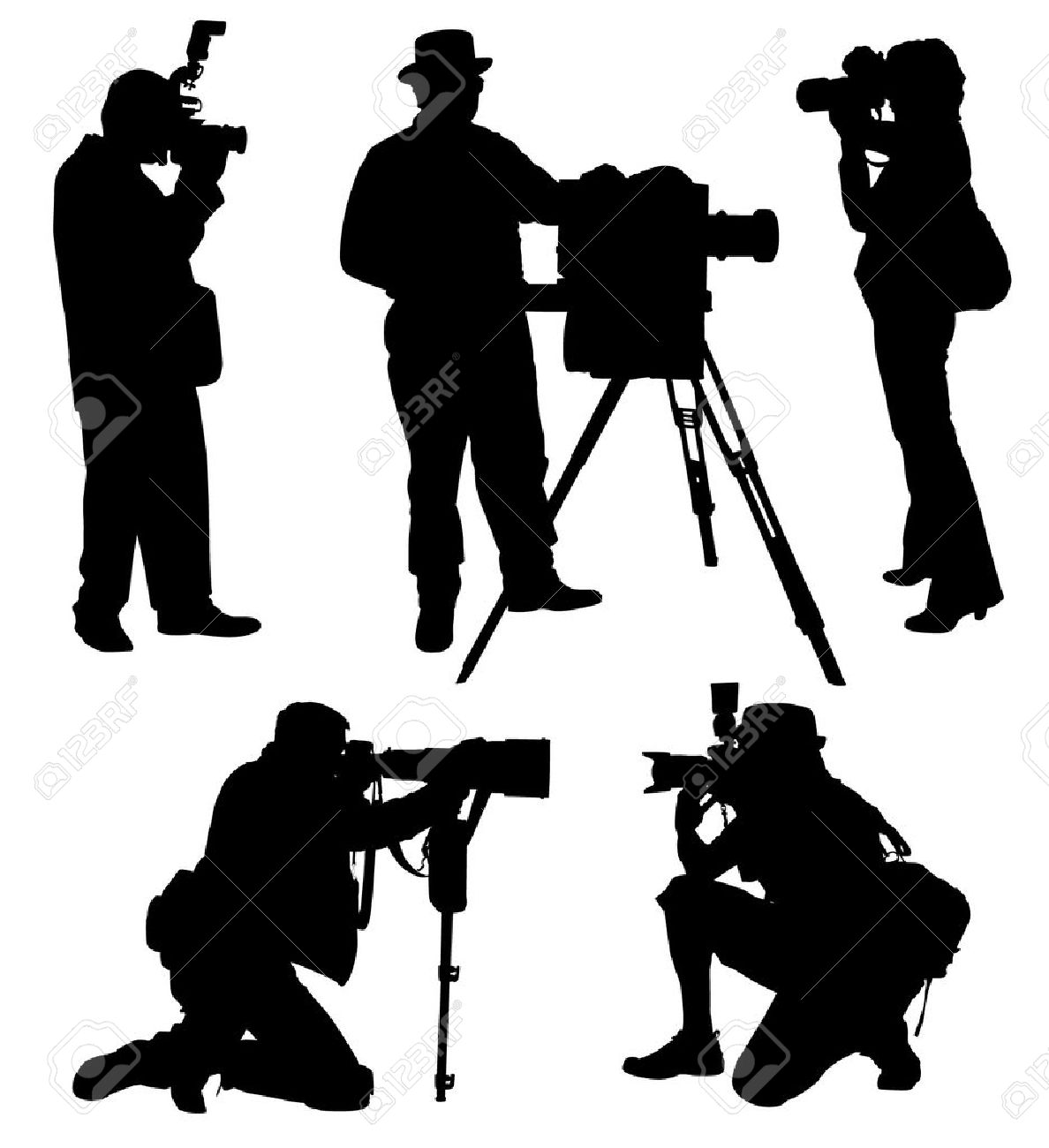 Photographer clipart silhouette.