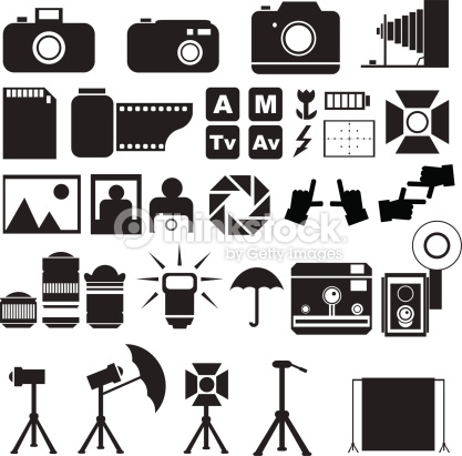 Photography Icons Vector Art.