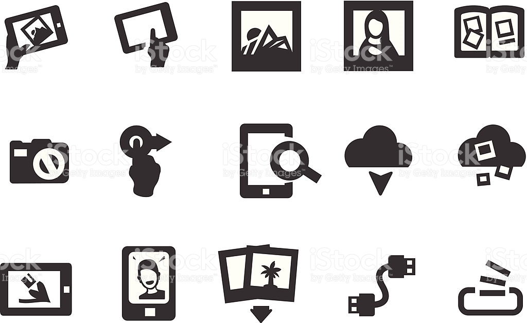Photography Album Icons stock vector art 166007449.