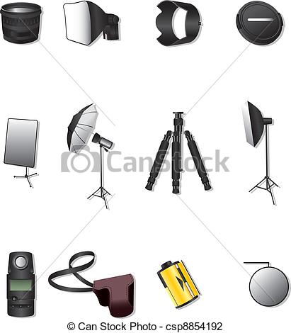 Photographic equipment Illustrations and Clip Art. 12,064.