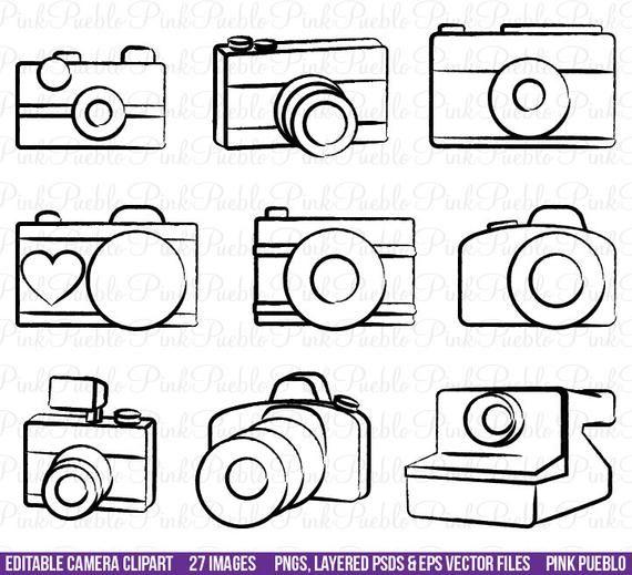 Appareil photo Clipart Clip Art, éléments de photographie de.