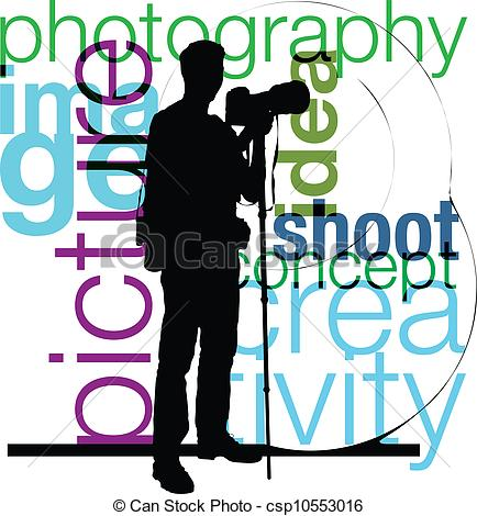 Vector Clip Art of Photographer illustration csp10553016.