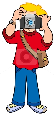 Cartoon photographer stock vector.
