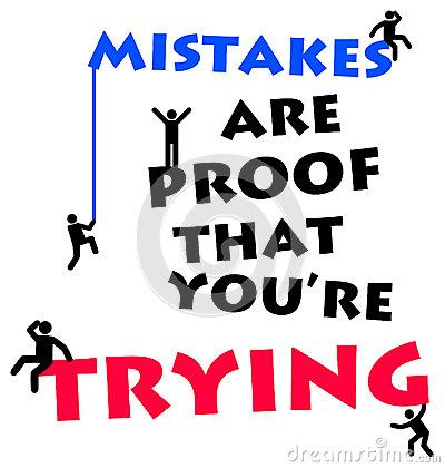 Mistakes Stock Illustrations.