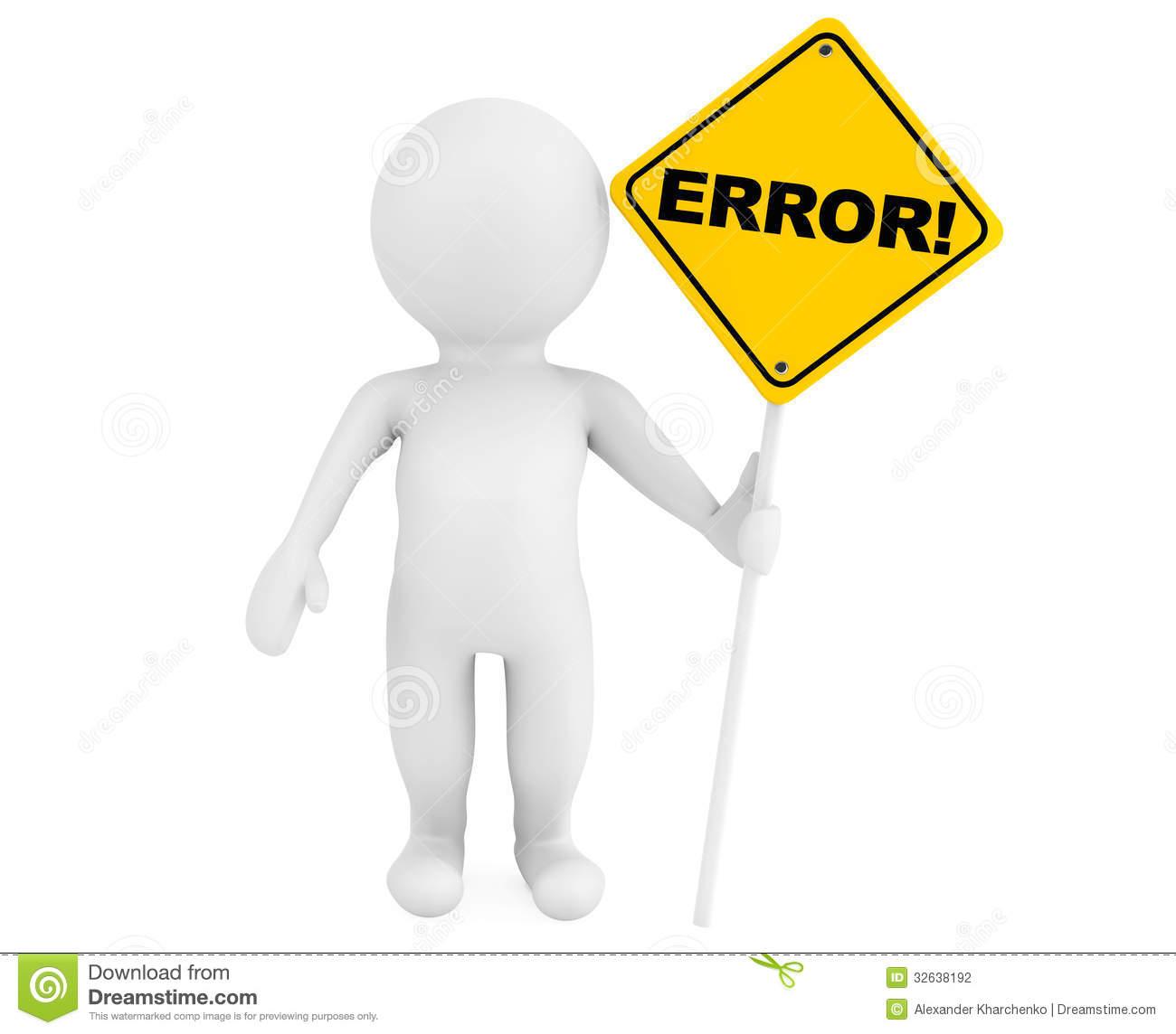 Human Error Stock Illustrations.