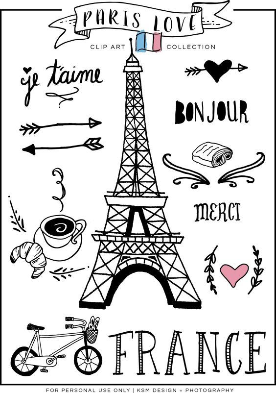 Paris Love Clipart {Free Download}.