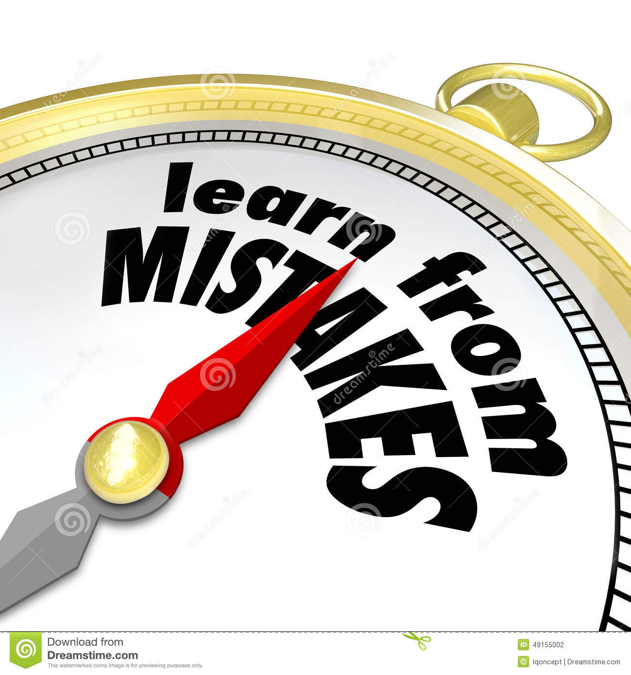 Learn From Mistakes Move Forward People Climbing Gears Stock.