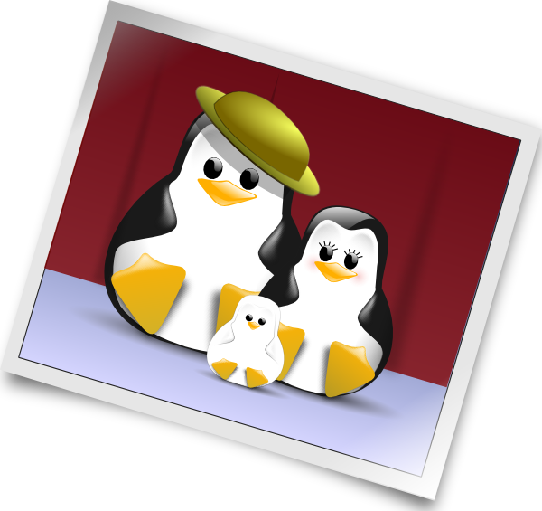 Happy Penguins Family Photo Clip Art at Clker.com.