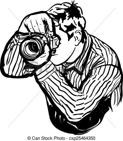 Photographer clipart black and white.
