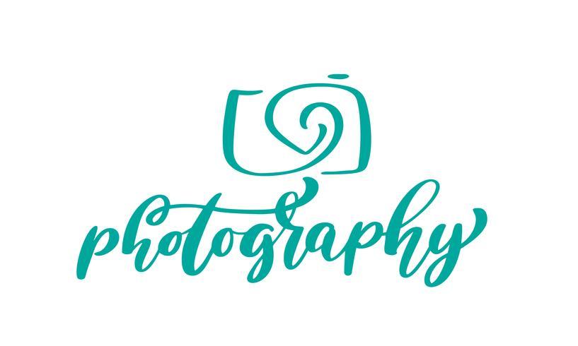 camera photography logo icon vector template calligraphic.