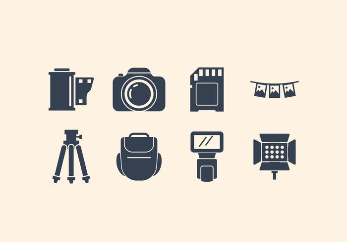 Camera And Photography Icon Set.