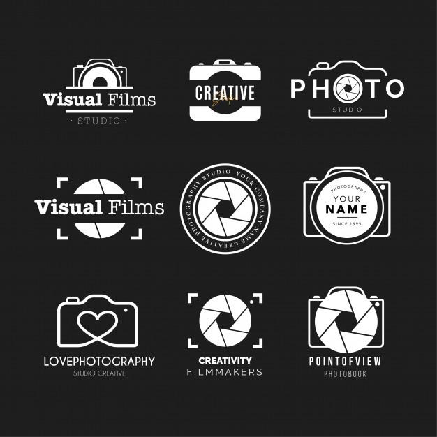 Photography logo collection Vector.