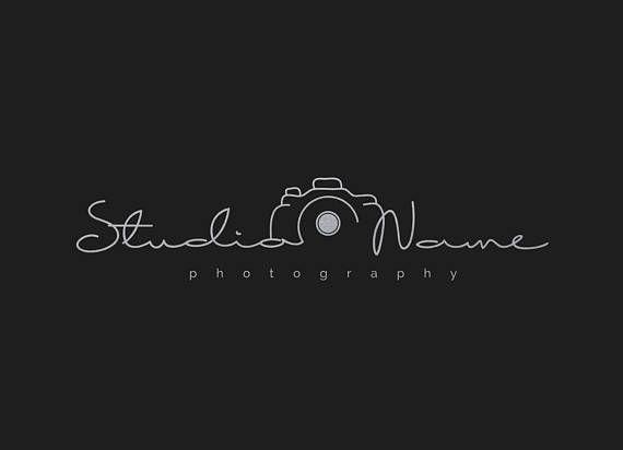 Photography Modern Camera Logo (With Multiple Foil Colors.
