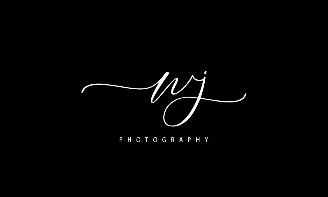 Beautiful Initial 2 Letters Signature Photography logo.