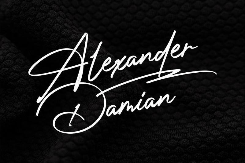 Photograph Signature Logo fonts.