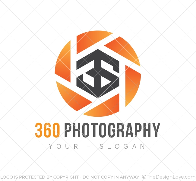 360 Photography Logo & Business Card Template.