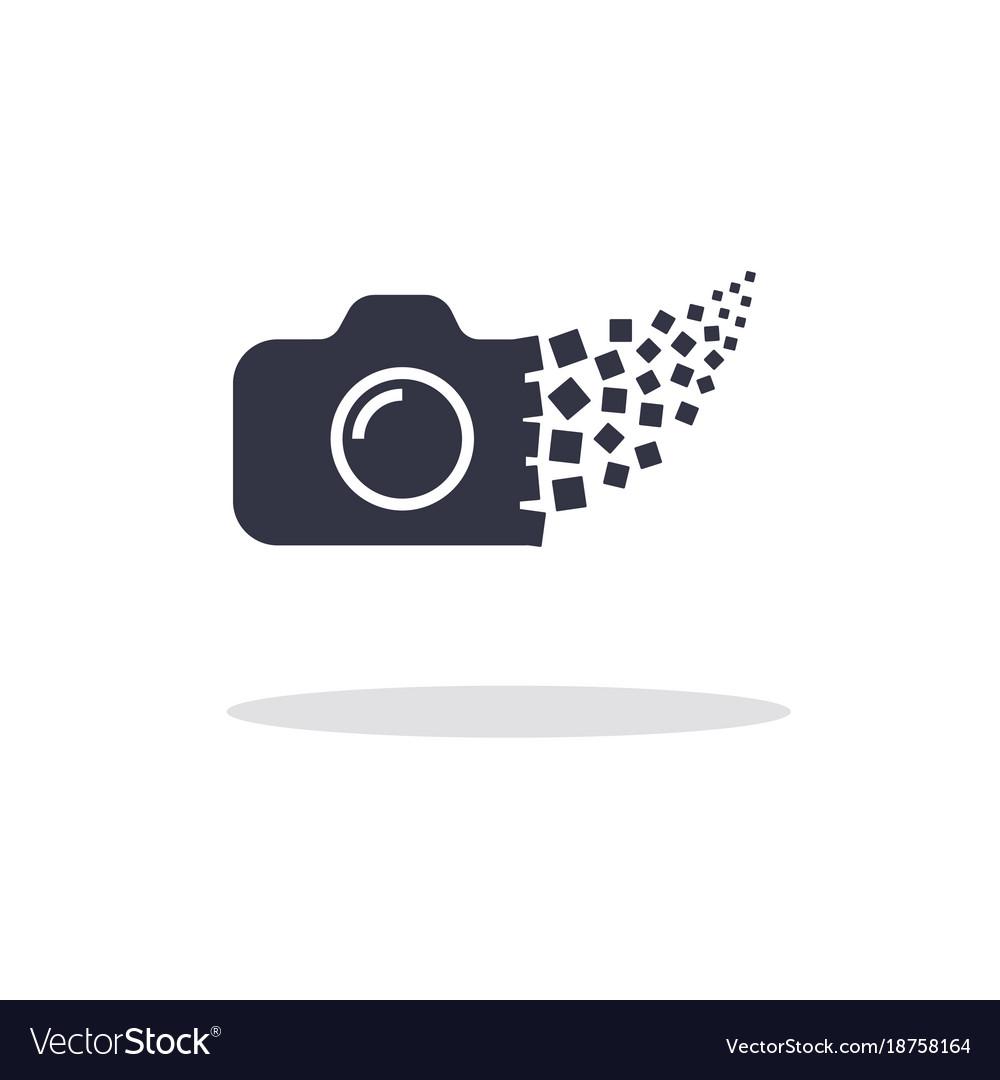 Camera photography logo icon template.