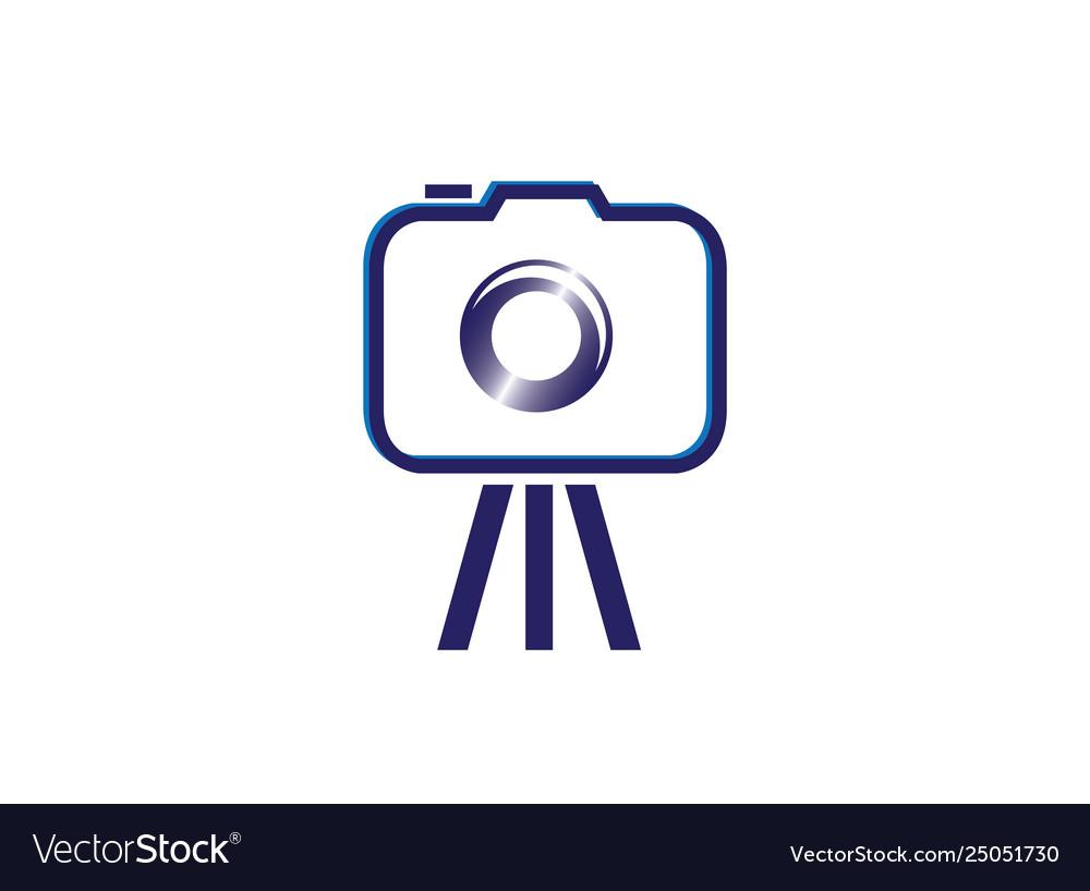 Camera tripod photograph logo design.