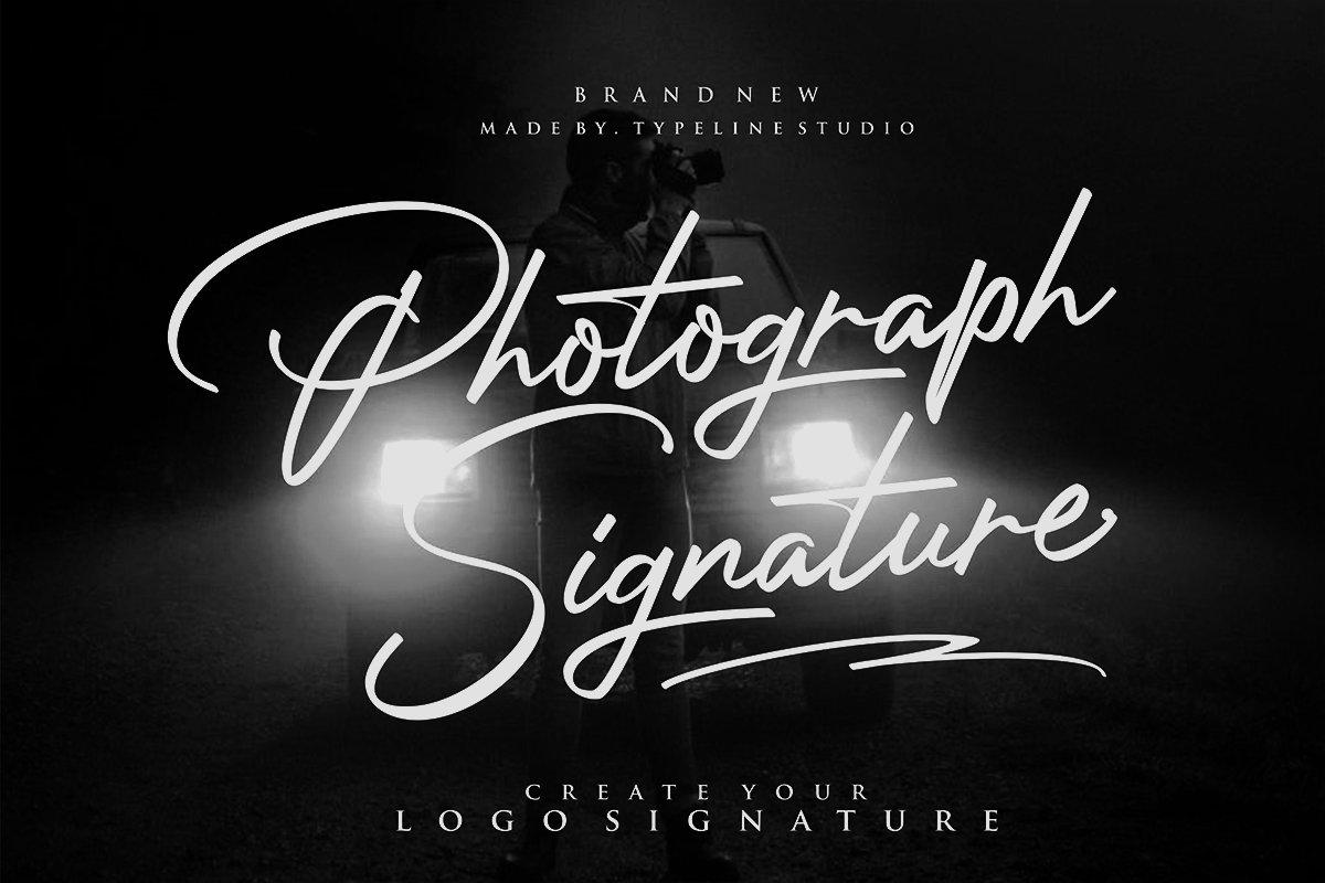 Photograph Signature Logo fonts ~ Script Fonts ~ Creative Market.