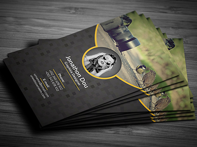 Photography Business Card PSD Template by DevItems on Dribbble.