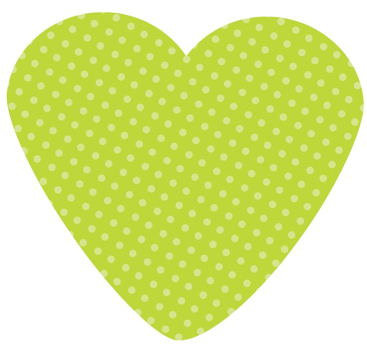 lime green heart clip art #14