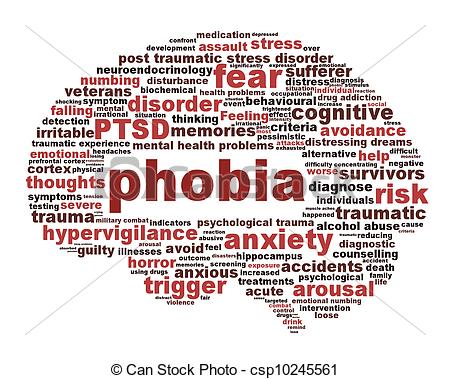 Stock Image of Phobia symbol isolated on white background. Anxiety.