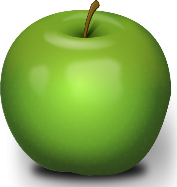 Photorealistic Green Apple clip art Free vector in Open office.