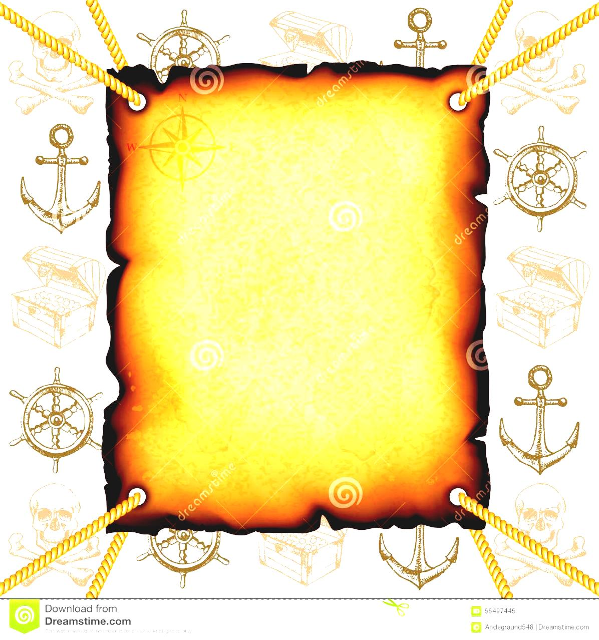 Adventure Map Clipart Old Background Compass Discovery Concept.